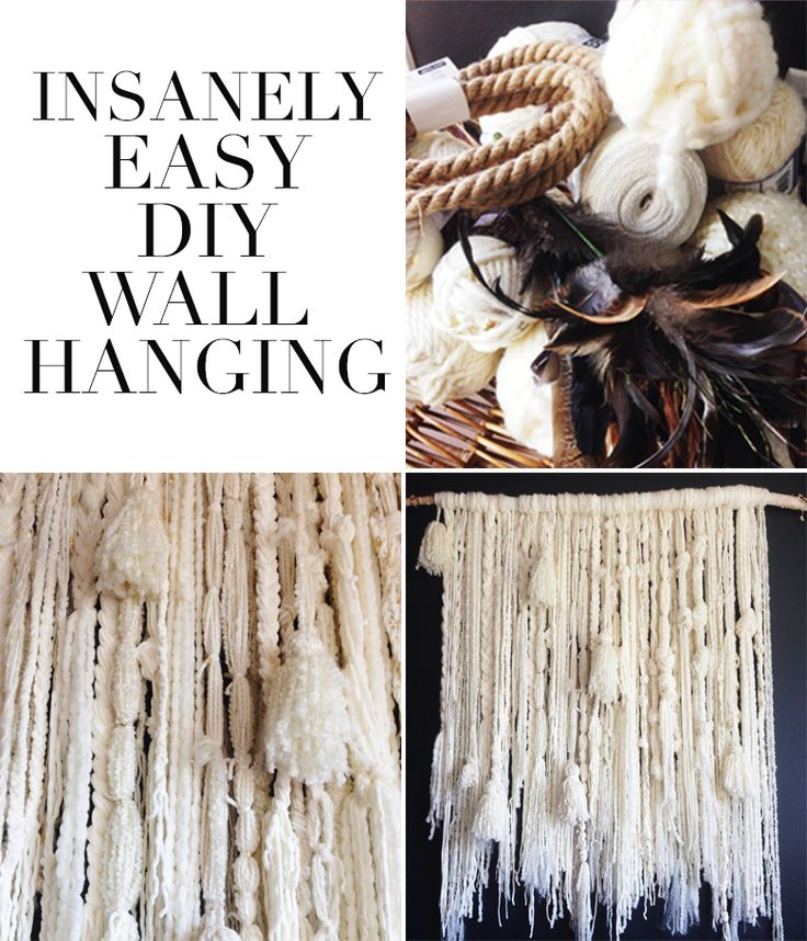 Fast, easy DIY wall hanging project
