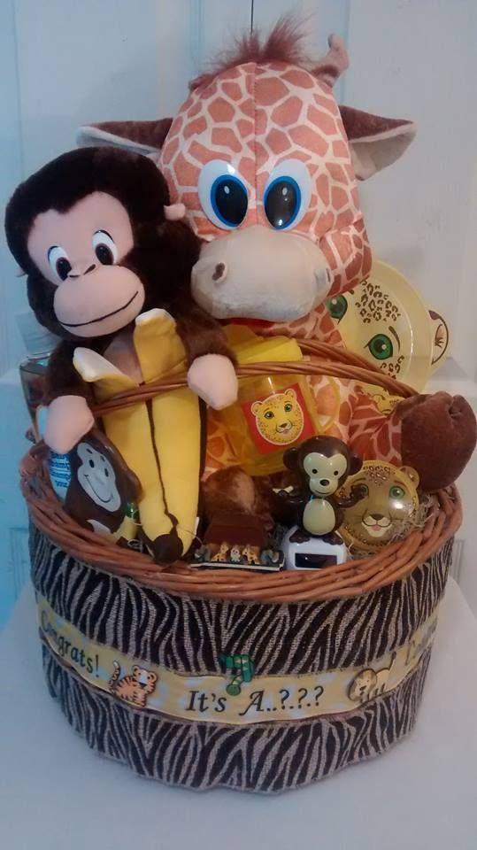 jungle baby unisex shower gift basket