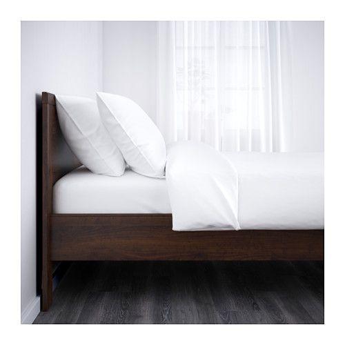 BRUSALI Bed frame, brown, Luröy Queen Luröy