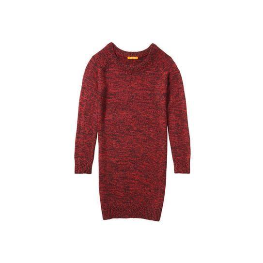 Joe Fresh Melange knit sweater dress in red