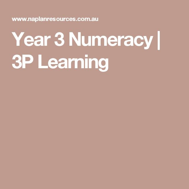 Year 3 Numeracy   3P Learning