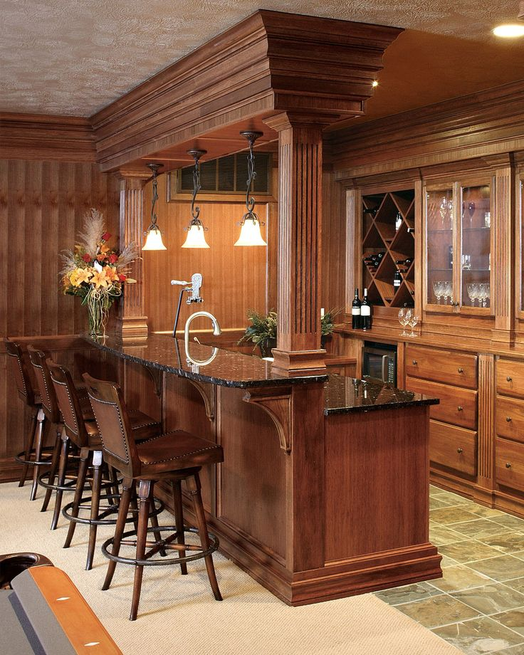 Bar ideas for finished basement home ideas pinterest - Basement kitchen and bar ideas ...