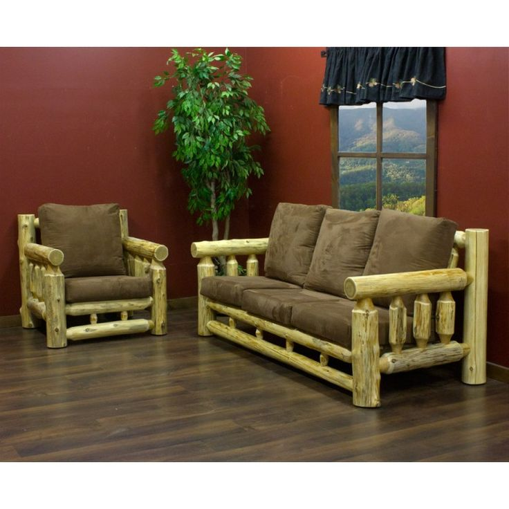 Cedar Lake Cabin Log Lounge Chair By JHEu0027s Log Furniture Place