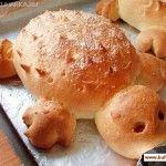 Schildpad gemaakt van brood