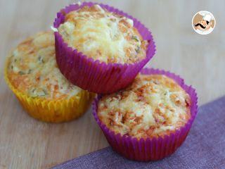 Muffins de jamón, queso y aceitunas