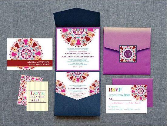Indian Wedding Invitations | 12 Colorful and Detailed Invitations - KnotsVilla