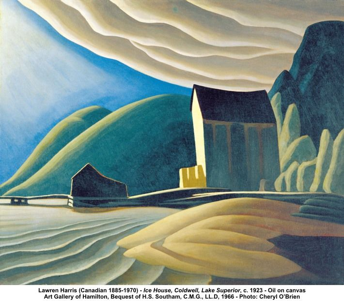 Lawren Harris (Canadian 1885-1970) - Ice House, Coldwell, Lake Superior, c. 1923 - Oil on canvas Art Gallery of Hamilton, Bequest of H.S. Southam, C.M.G., LL.D, 1966 - Photo: Cheryl O'Brien