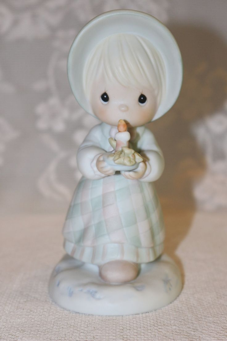 Precious Moments 1988 December Porcelain Enesco Figurine of the Month Sam…