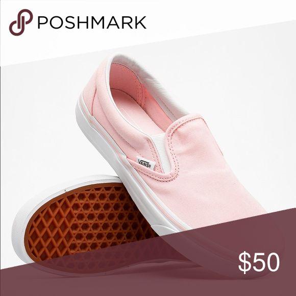 ballerina pink classic slip on vans ballerina pink classic slip on vans. Super cute for summer, NWT Firm price. Vans Shoes