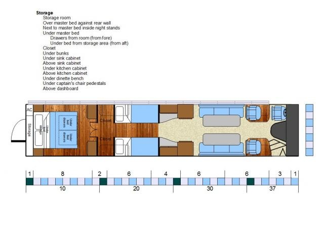 Bus Conversion Floorplan