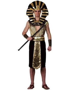 This Adult Pharaoh Costume Includes tunic headpiece and arm cuffs One Size Chest 34 - 40 Waist 30 -