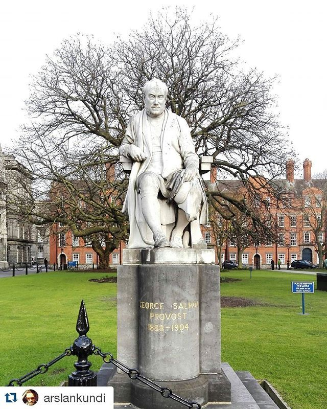 Thanks for sharing @arslankundiRead more about former Provost George Salmon here - http://www.tcd.ie/provost/history/former-provosts/g_salmon.php#Repost @arslankundi with @repostapp・・・Statue of George Salmon at Trinity College Dublin.#trinitycollege #georgesalmon #dublin#discoverdublin #ireland_gram#ireland #travel#Travelling #travelblogger #TravelBlog#traveling #fbloggers#fblogger #bbloggers#Bblogger #lblogger#lbloggers #instagram#tour #tourism #tourists#tourisme…