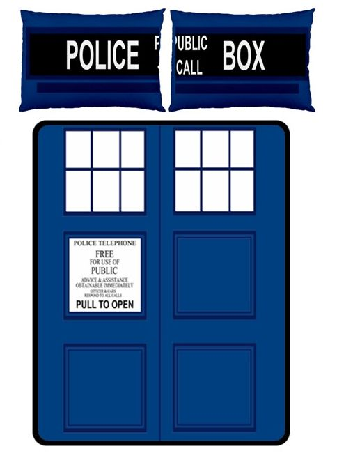 Much Needed Merch | TARDIS Small Bed Set - Fleece Blanket 2 Pillow Cases | Online Store Powered by Storenvy