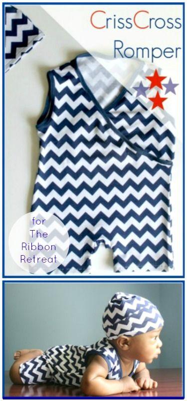 CrissCross Romper // Little Kids Grow for The Ribbon Retreat Blog (Free pattern)