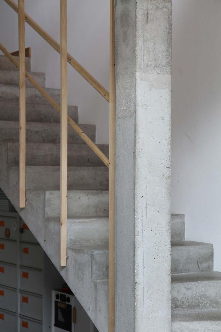17 meilleures id es propos de escalier en beton sur pinterest armoires de salle de bains. Black Bedroom Furniture Sets. Home Design Ideas