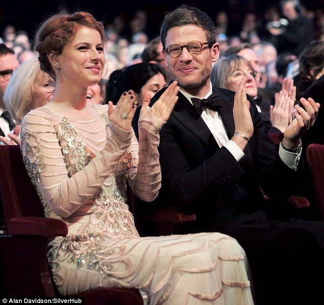 James Norton & Jessie Buckley in Temperley London at the Olivier Awards April 2016