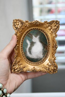 Cat Hair Portrait - An Exclusive Peek Inside The Crafting With Cat Hair Fur Cabinet!