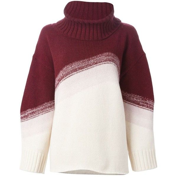 I'M Isola Marras Oversized Roll Neck Sweater found on Polyvore featuring tops, sweaters, i'm isola marras, white sweater, roll neck sweater, over sized sweaters and oversized white sweater