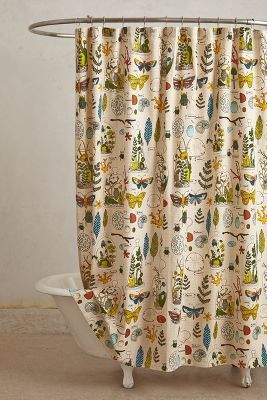 Anthropologie Entomology Shower Curtain #anthrofave #anthropologie