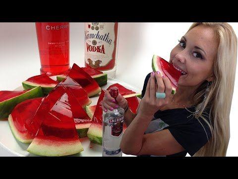 Buzzfeed's XXL Watermelon Jello Shots - TipsyBartender - YouTube