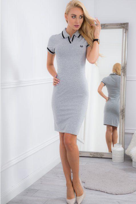Jasnoszara sukienka sportowa 5227