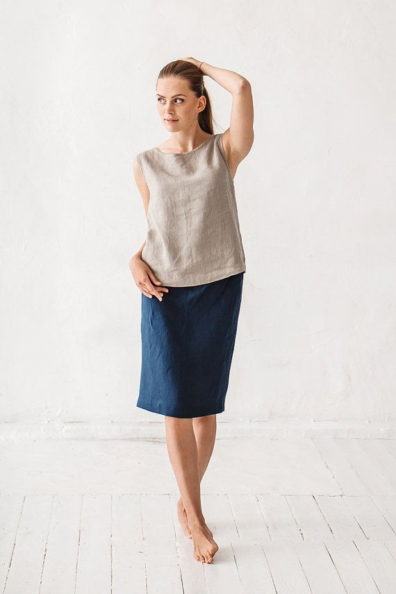 Skirt, Linen skirt, Black skirt, Minimal linen skirt, Washed linen skirt, Maxi skirt, Women skirt, High Quality, Organic, Eco friendly, High quality skirt, Vegan skirt, Stone washed skirt.  DETAILS:  - Waist with elastic band - Length 56 cm/41 - Made from 100 % Baltic linen - Can be made in