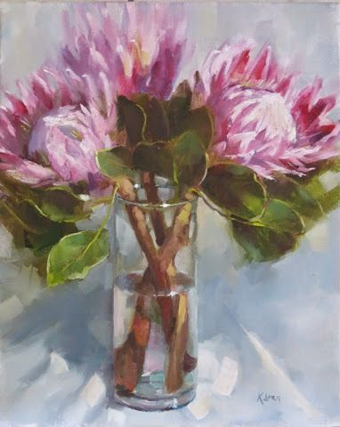 KAREN'S CANVAS: Last of my protea paintings