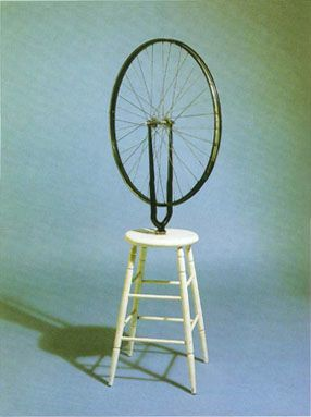 Duchamp - Bicycle Wheel    Always enjoyed the story of this movement though weird