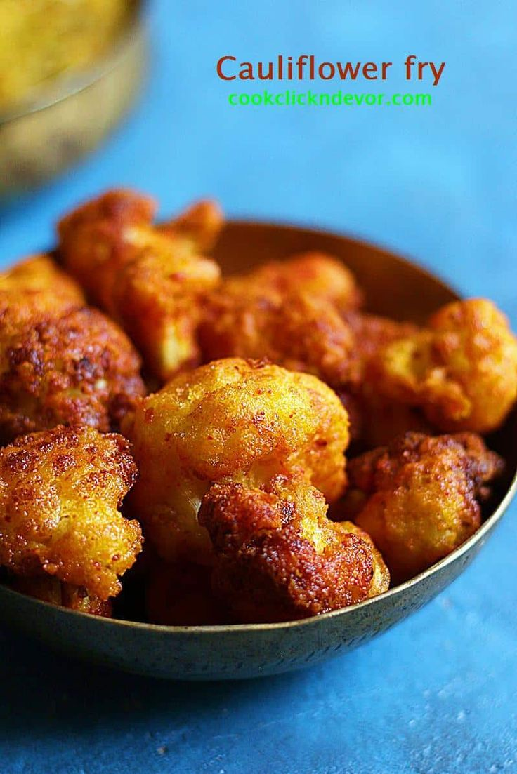 street style crispy cauliflower fry recipe without added colors- Indian cauliflower fry or gobi fry recipe