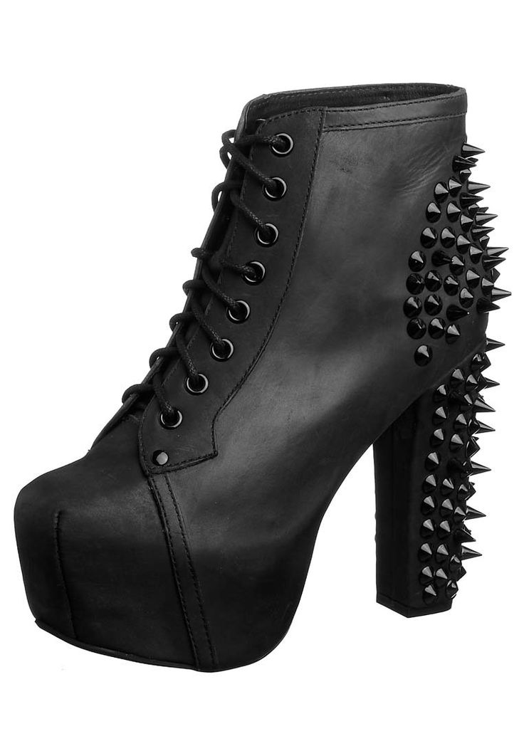 Jeffrey Campbell Lita with black studs: I am in love with thee. #schoes #studs #heels #black