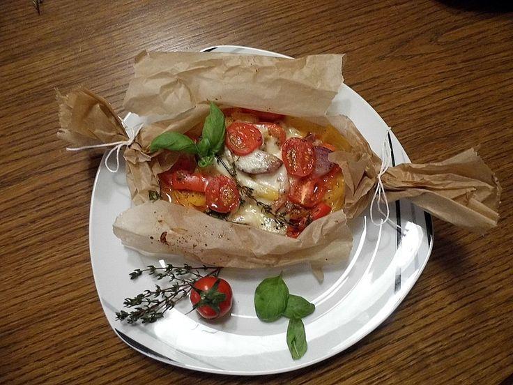 Gemüsepäckchen mit Mozzarella, ein sehr leckeres Rezept aus der Kategorie Vegetarisch. Bewertungen: 3. Durchschnitt: Ø 3,8.