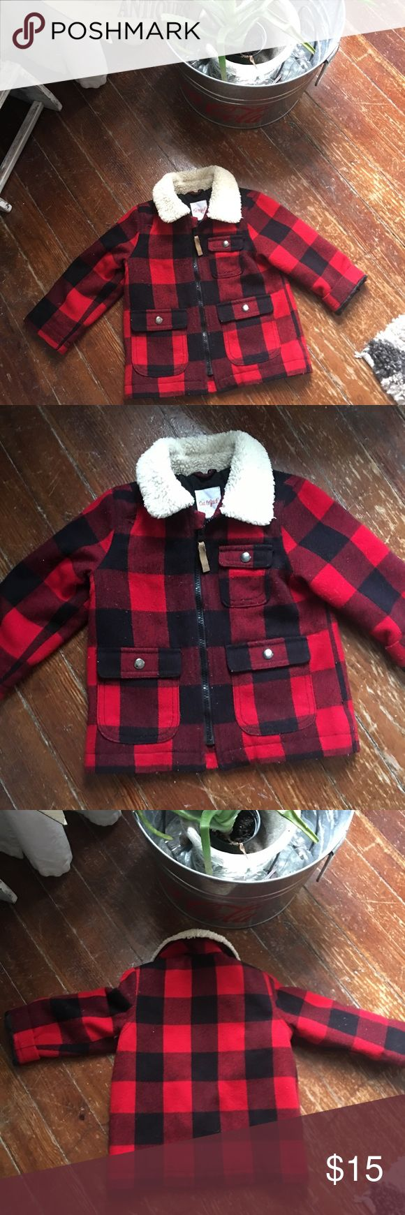 Boys Lumber Coat Size 2T kids boys no flaws Cat & Jack Jackets & Coats