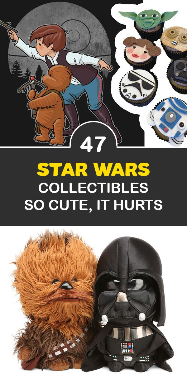 Star Wars Cute Art - Star Wars Cute Outfits -  Star Wars Cute Cartoon - Star Wars Party - Star Wars Humor - Wookies and Ewoks are just two examples of adorable Star Wars species. If you love Star Wars, you'll enjoy these cute Star Wars gifts. They're so cute, it hurts!
