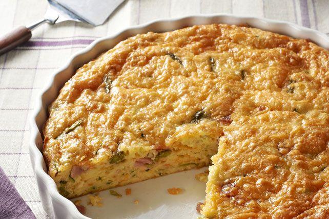 Crustless Vegetable & Ham Quiche Recipe