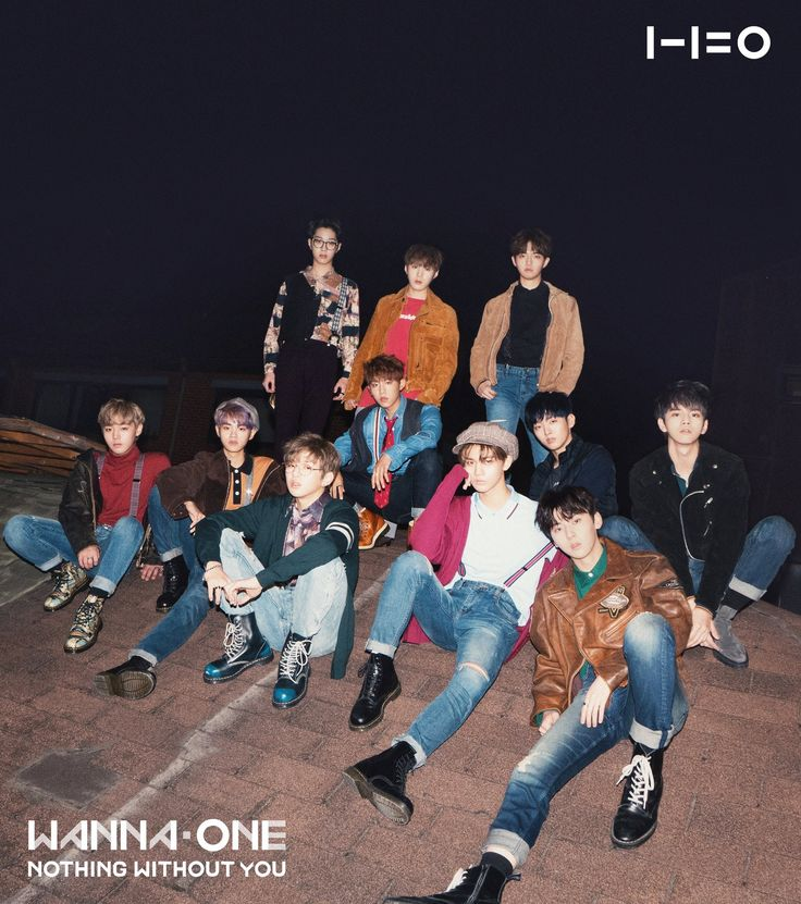 "Wanna One | 2nd Album Cover (WANNA & ONE ver.) Wanna One ""1-1=0 (NOTHING WITHOUT YOU)"" 2017.11.13 Album Release!"