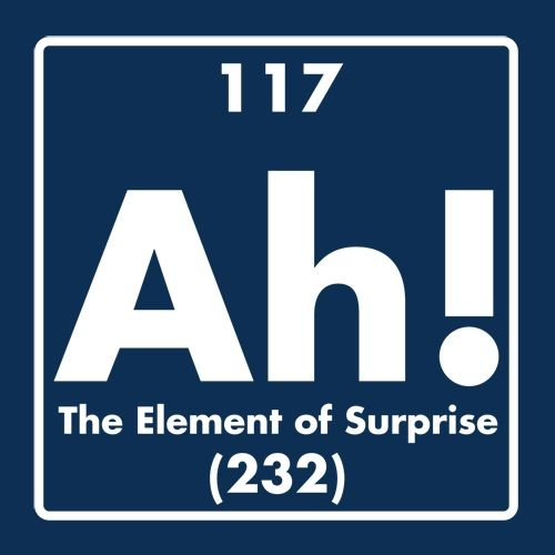 Ah!  The Element of Surprise.