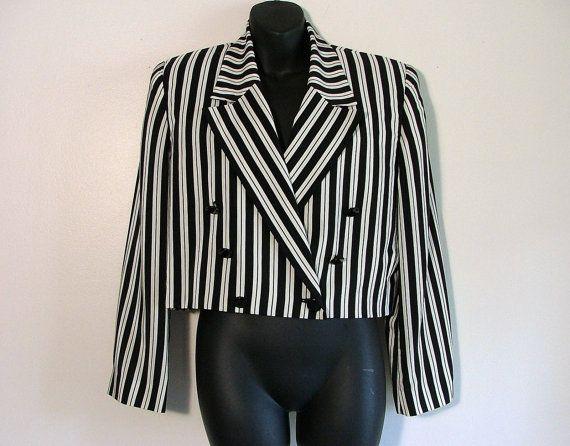 Linda Allard for Ellen Tracy Cropped Blazer Size 12 by KatsCache, $49.95