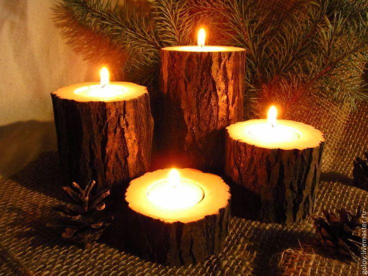 Подсвечники деревянные
