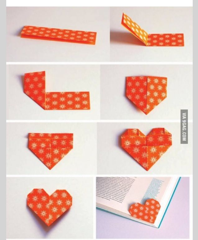 Corner book mark diy