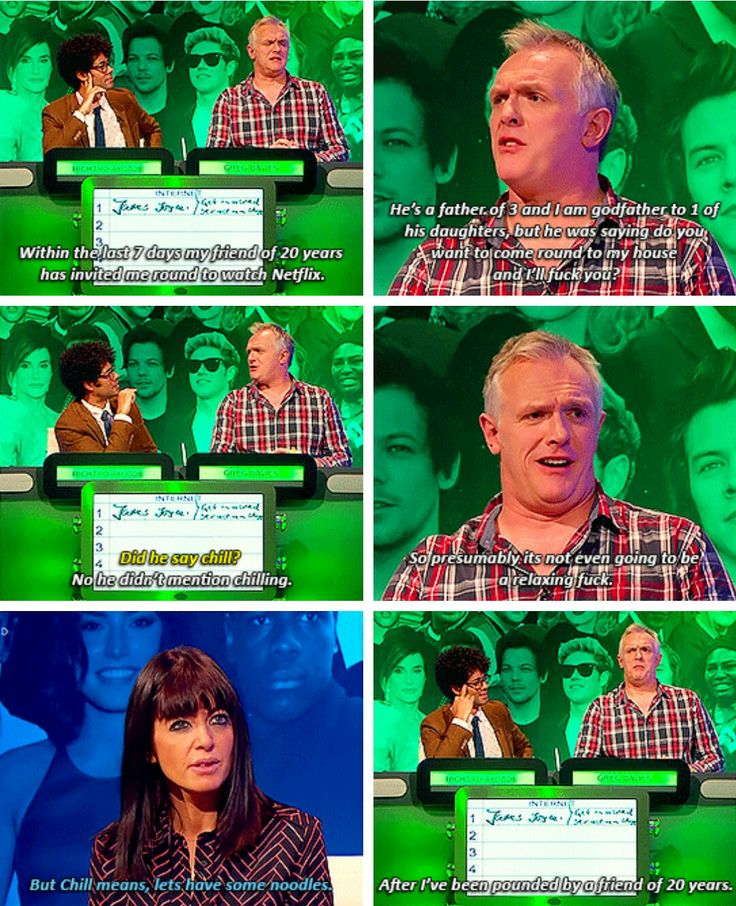 The Big Fat Quiz, Greg Davies finds out what 'Netflix and chill' means