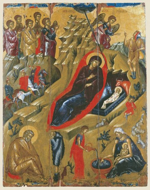 Παναγία Ιεροσολυμίτισσα: Χριστός Γεννάται: Αγίου Ιωάννου του Χρυσοστόμου