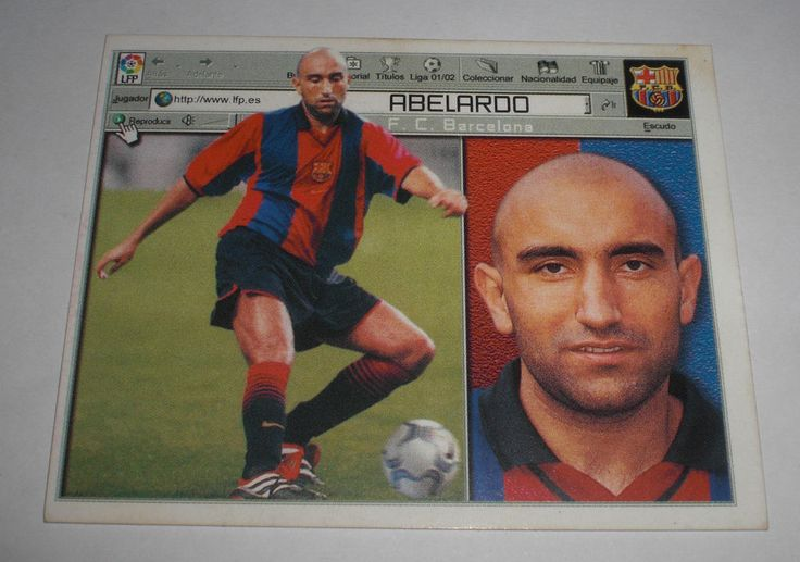 CROMO FUTBOL CLUB BARCELONA ABELARDO(SIN PEGAR)LIGA LFP ESTE 2001-2002/01-02