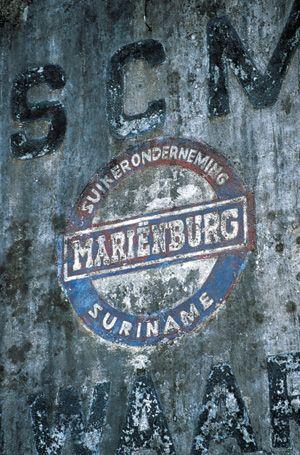 marienburg suriname - suikerfabriek hier werkte mijn grootvader