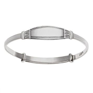 Bangle Expanding ID - WINDSOR - Baby - Engraved - Sterling Silver or 9ct Gold