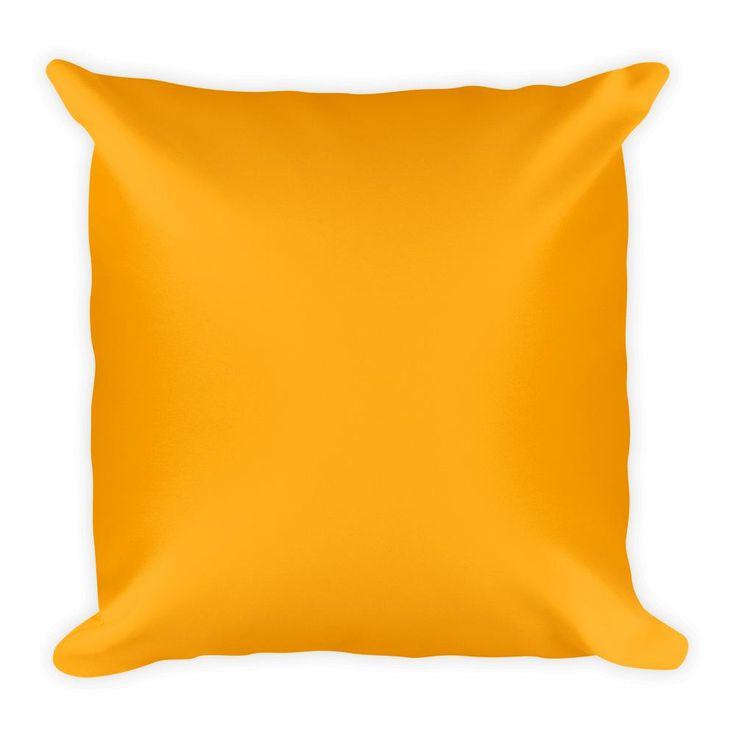 Orange Square Pillow