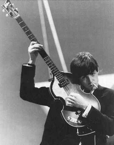 Left-handed Hofner played by Left-hander Paul McCartney