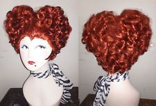 "Winnie Sanderson sisters ""Hocus Pocus"" Queen of Hearts Queen Elizabeth red wig!"