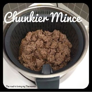 The road to loving my Thermomix: Achieving chunkier mince