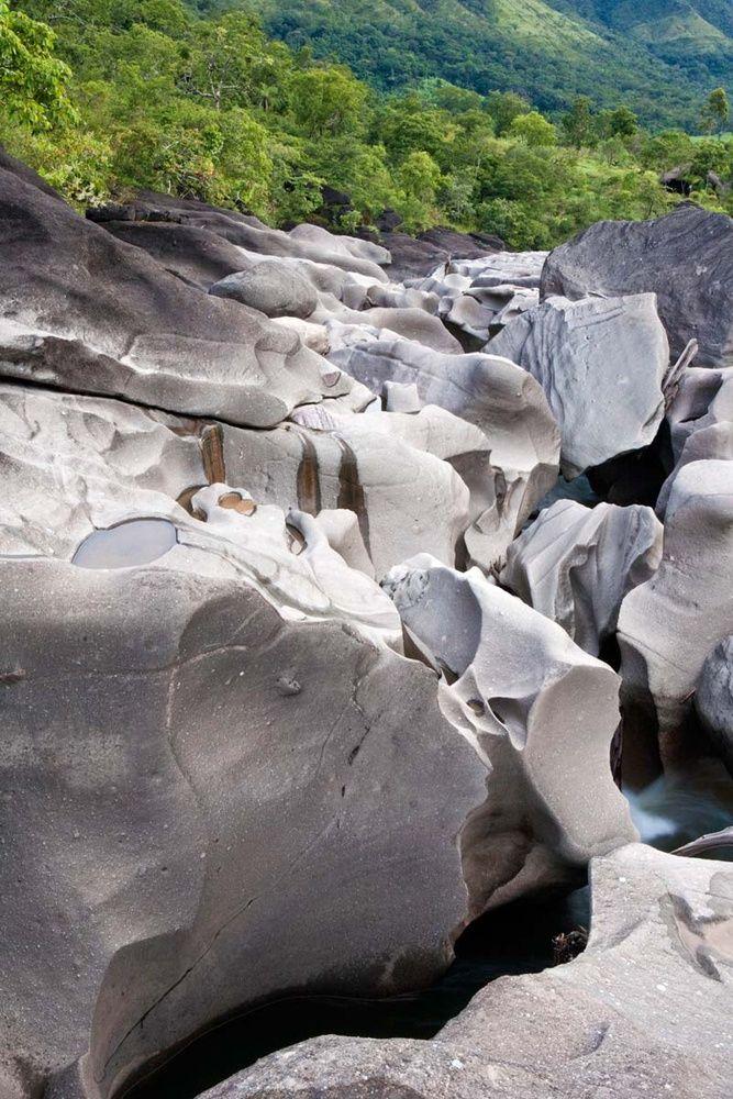 Valle de la Luna (Brasil), el juego de plastilina del río Sao Miguel