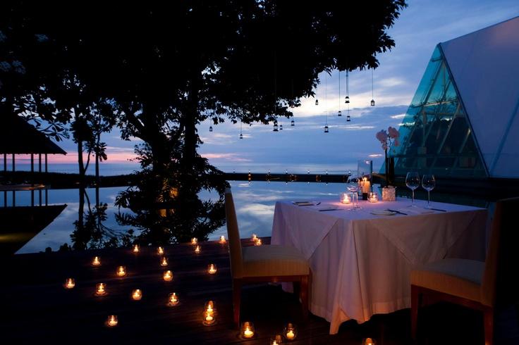 Outdoor candlelit decor from Tirtha Bridal ~ Jalan Uluwatu, Badung, Bali....
